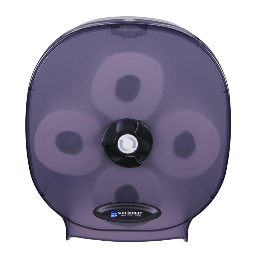 "San Jamar R3800TBK 4-Station Carousel Bath Tissue Dispenser w/ 5"" Roll Capacity & Plastic, Black Pearl"