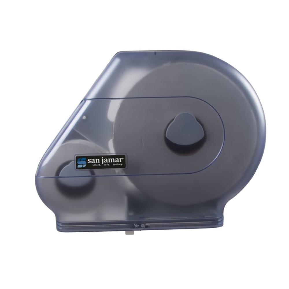 "San Jamar R6500TBL Quantum 12 - 13"" Jumbo Toilet Tissue Dispenser, W/ Stub Roll, Trans Blue"