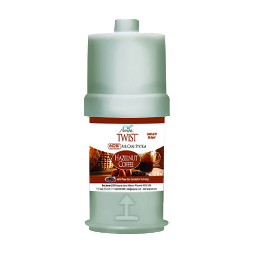 San Jamar RW107801257 Arriba Twist Fragrance Refill, Hazelnut Coffee