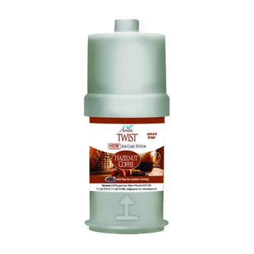 San Jamar RW107801257 2 oz Liquid Air Freshener Refill for Arriba™ Twist, Hazelnut Coffee