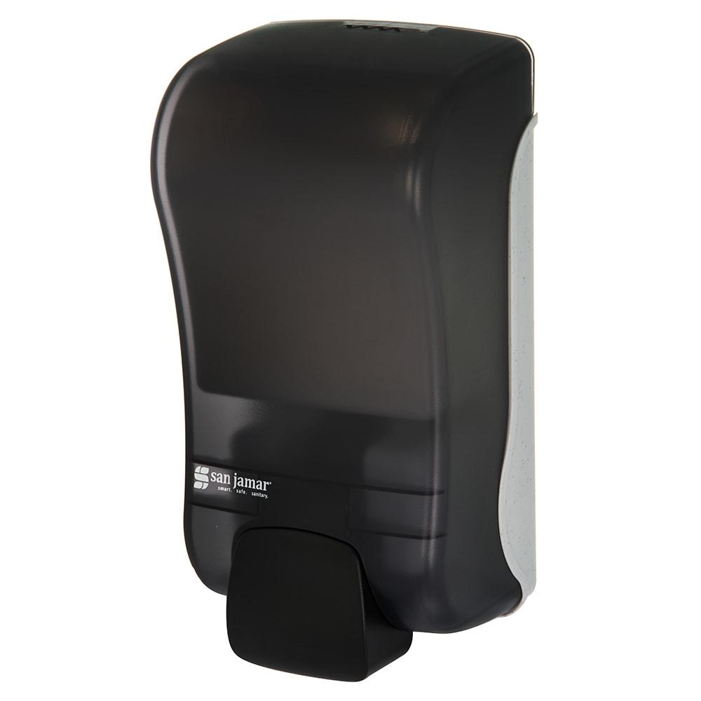 San Jamar S1300TBK 1300-mL Wall-Mount Soap Dispenser - Manual, Black Pearl