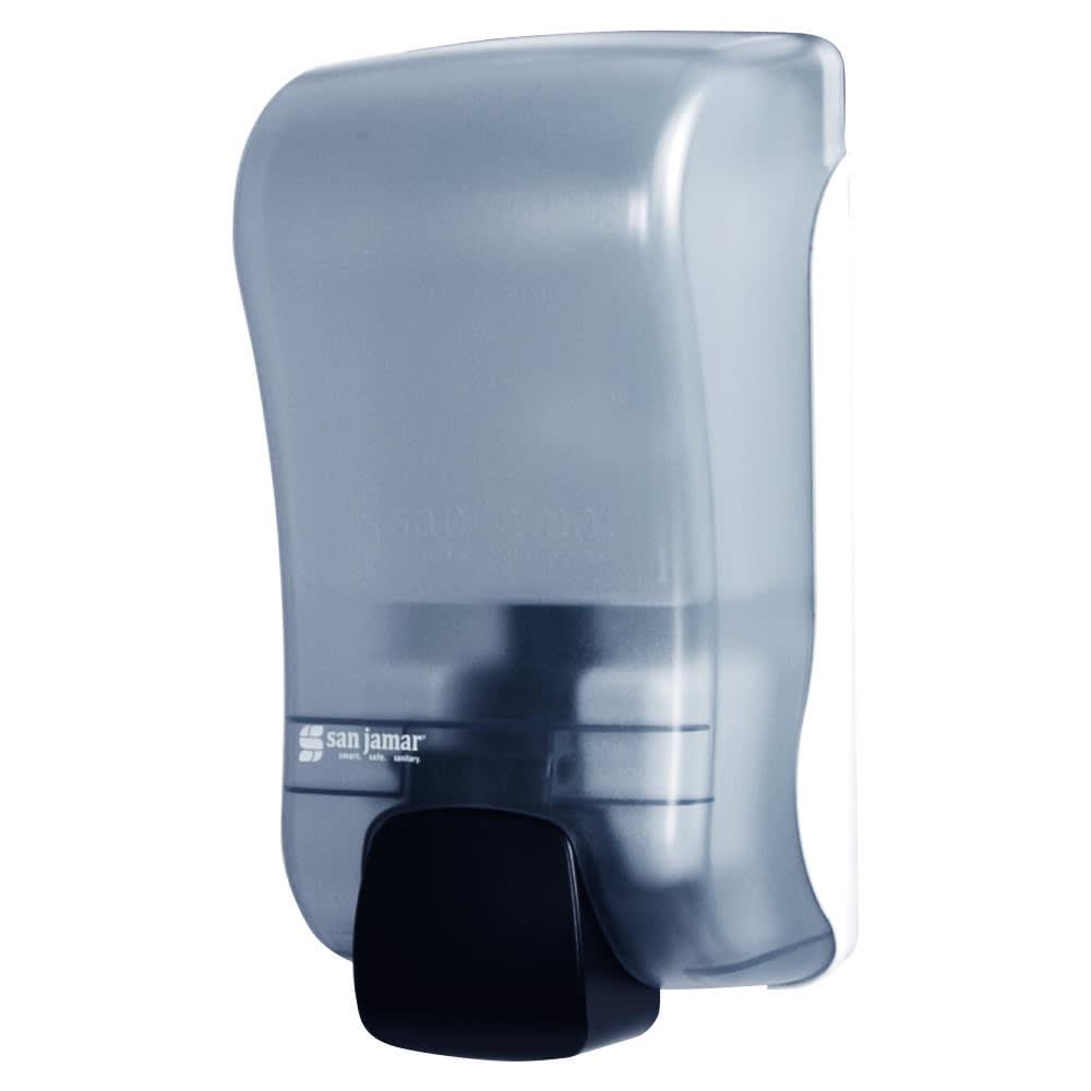 San Jamar S1300TBL 1300-mL Wall-Mount Soap Dispenser - Manual, Arctic Blue