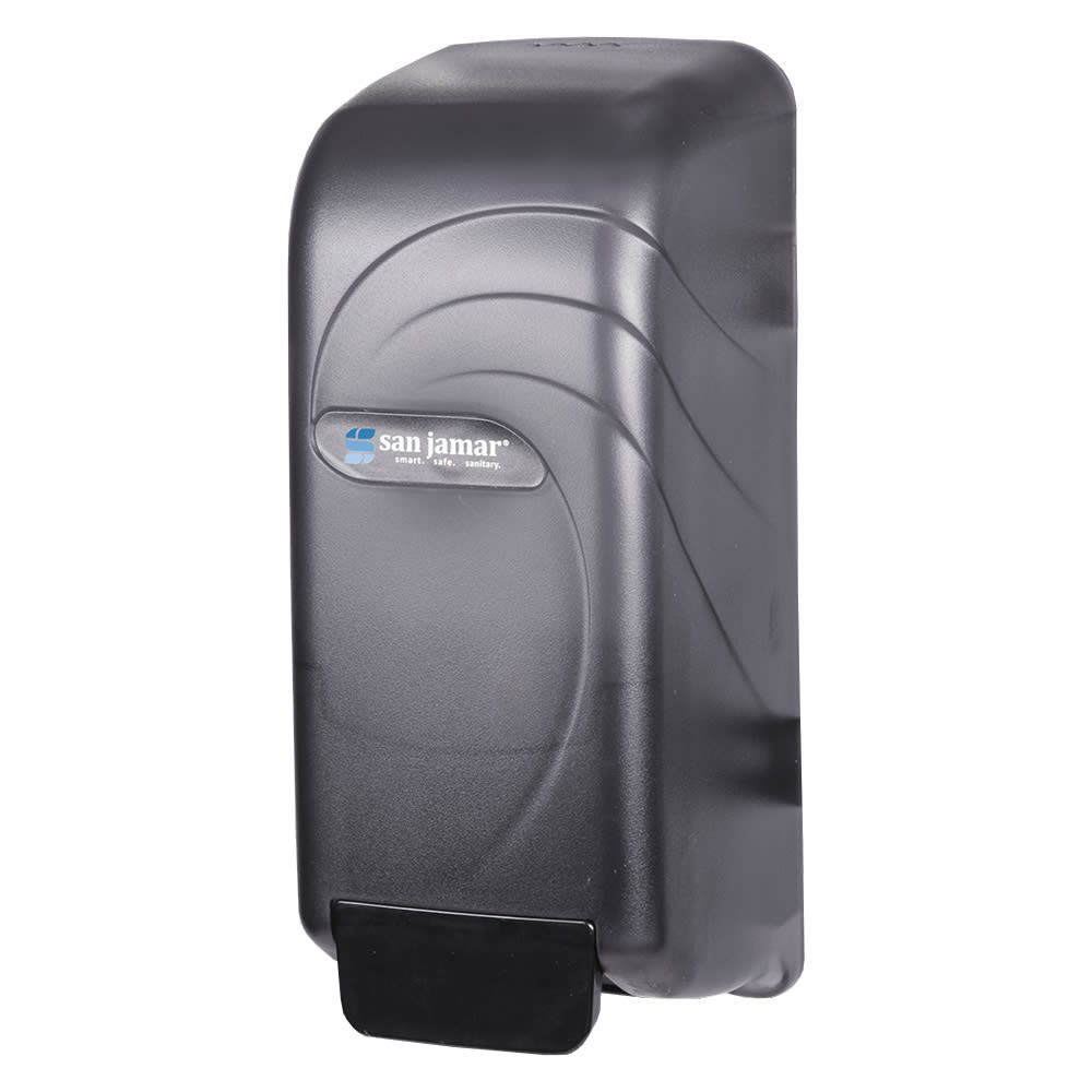 San Jamar S890TBK Wall Mount Soap Dispenser, Bulk or Bag-In-Box, Translucent Black Pearl