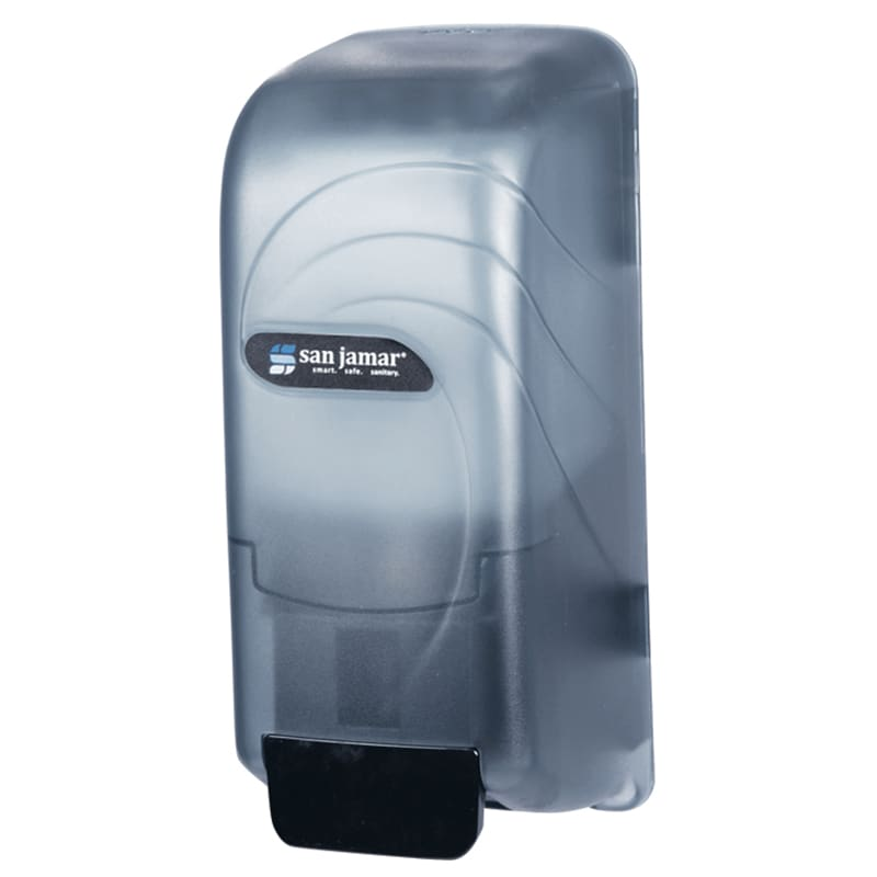 San Jamar S890TBL Wall Mount Soap Dispenser, Bulk or Bag-In-Box, Translucent Arctic Blue