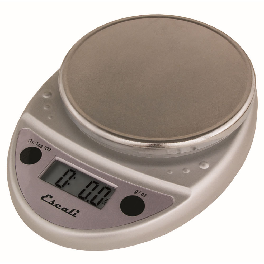 "San Jamar SCDG11CHR Escali 11-lb Digital Scale - 8.5"" x 6"", Chrome"