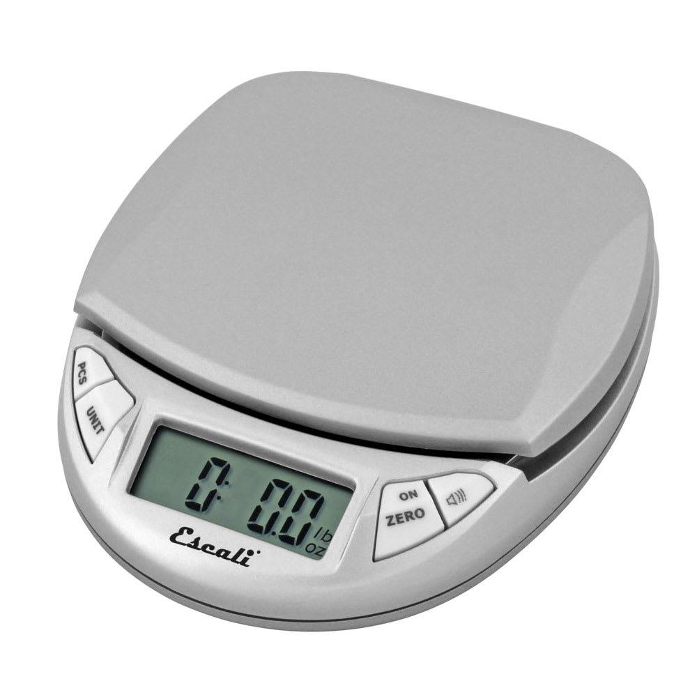 """San Jamar SCDG11GYR Escali 11 lb Handheld Digital Scale - 4.5"""" x 4"""", Silver Gray"""