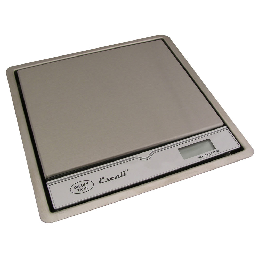 San Jamar SCDG11R Escali 11 lb Surface-Mountable Digital Scale, Stainless