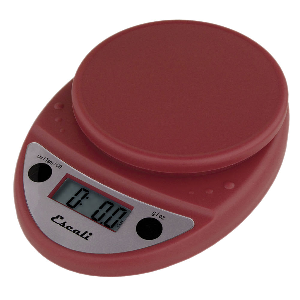 """San Jamar SCDG11RDR Escali 11-lb Digital Scale - 8.5"""" x 6"""", Warm Red"""