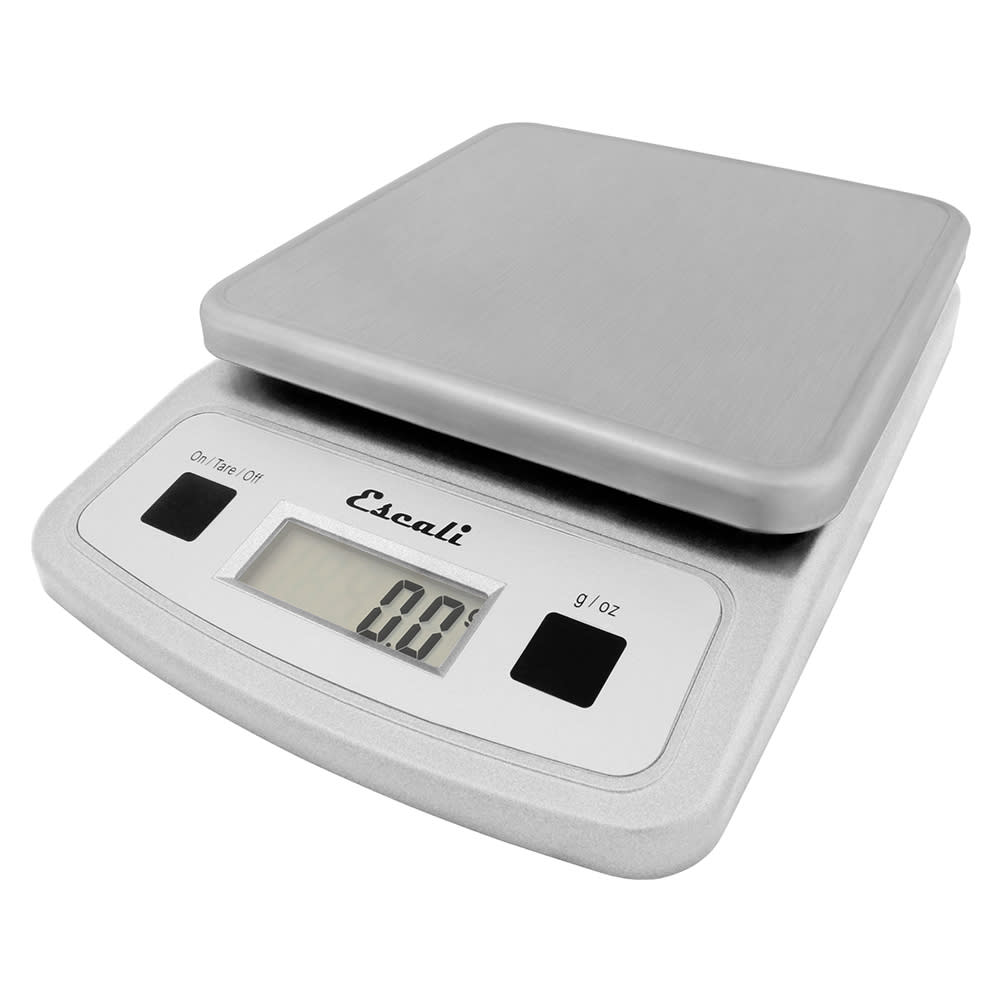 "San Jamar SCDG13LP Escali 13 lb Digital Scale w/ Removable Platform - 5.75"" x 8.25"", Stainless"