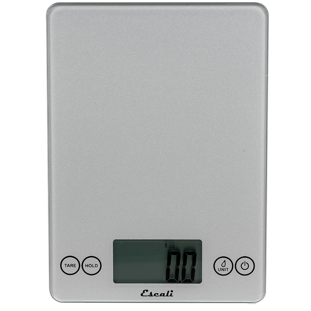 "San Jamar SCDG15SVR Escali 15 lb Digital Scale w/ Glass Platform - 9"" x 6.5"", Silver"