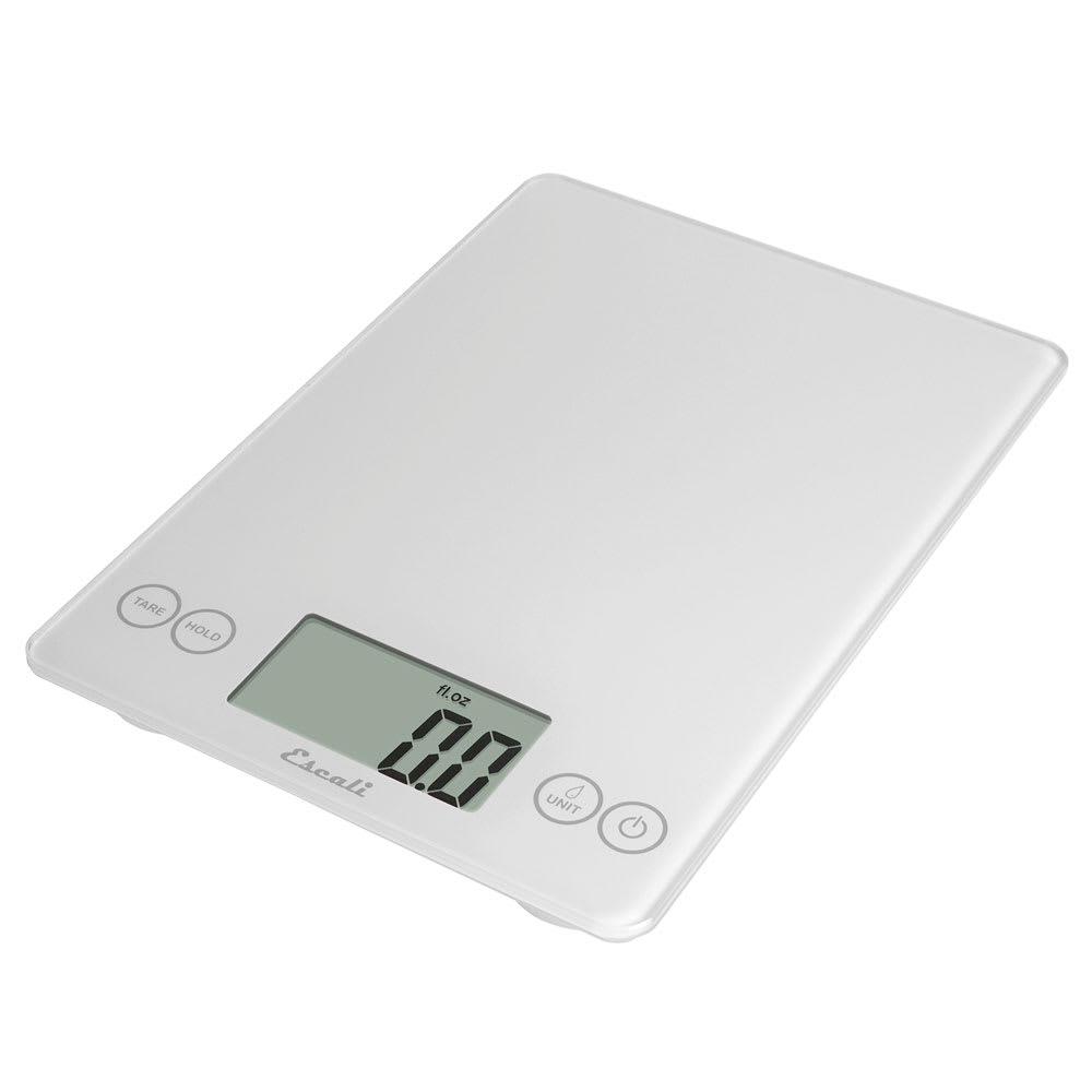 "San Jamar SCDG15WHR Escali 15 lb Digital Scale w/ Glass Platform - 9"" x 6.5"", White"
