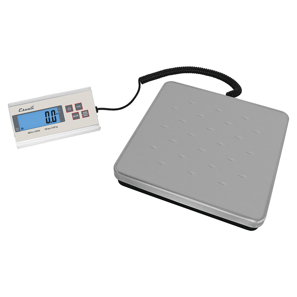 "San Jamar SCDG264 264 lb Industrial Receiving Scale w/ Remote Display - 11.5"" x 11"", Stainless"