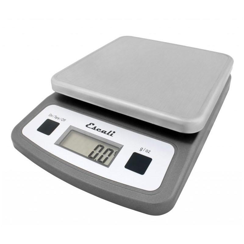 "San Jamar SCDG2LP Escali 2 lb Digital Scale - 5.75"" x 8.25"", Stainless Steel"