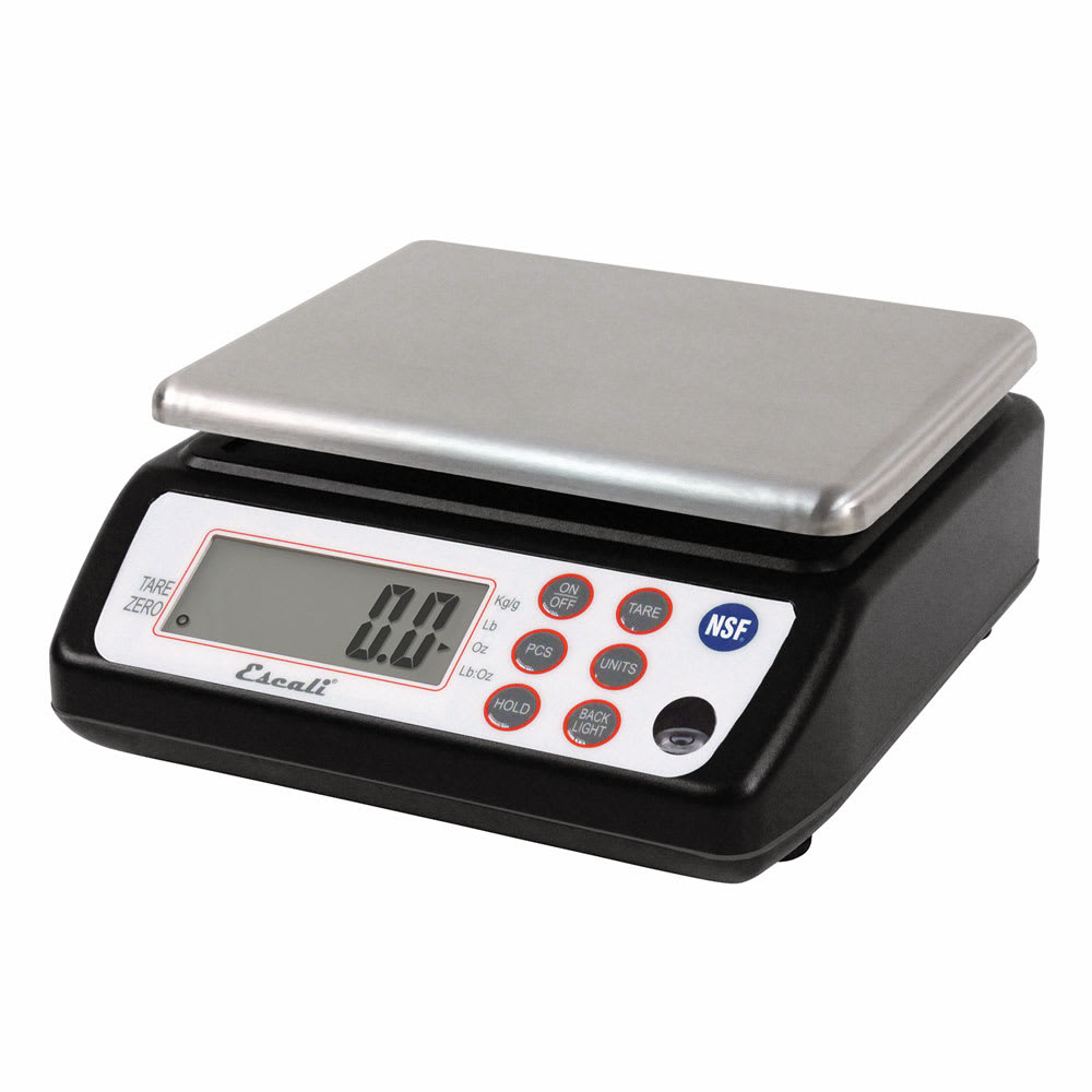"San Jamar SCDG33BK 33 lb Square Digital Scale - 8.5"" x 8.5"", Stainless"