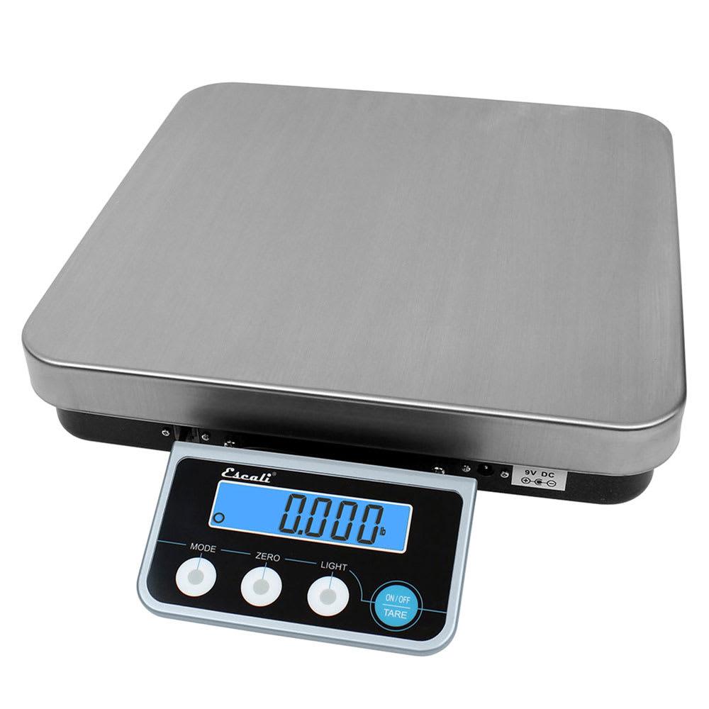 "San Jamar SCDGPC13 Escali 13 lb Large Digital Portion Control Scale w/ Removable Platform - 12"" x 12"", Stainless Steel"