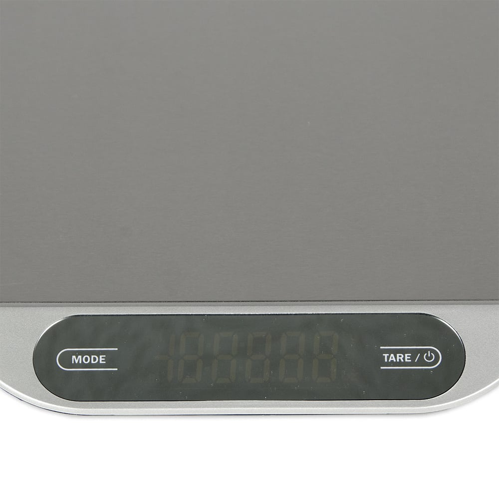 "San Jamar SCDGSL33 33 lb Rectangular Wash-Down Digital Scale - 8.25"" x 8.5"", Stainless"