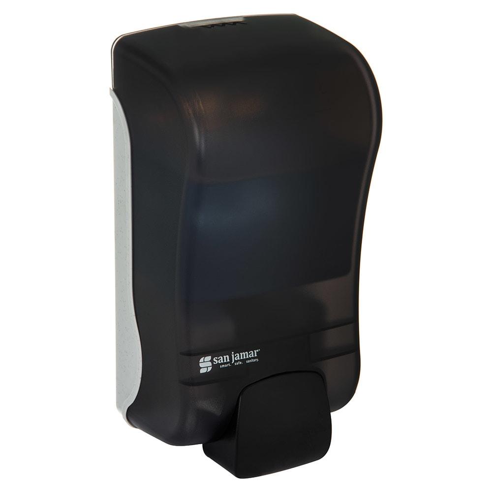 San Jamar SF1300TBK 1300 mL Wall-Mount Foam Soap Dispenser - Manual, Black Pearl