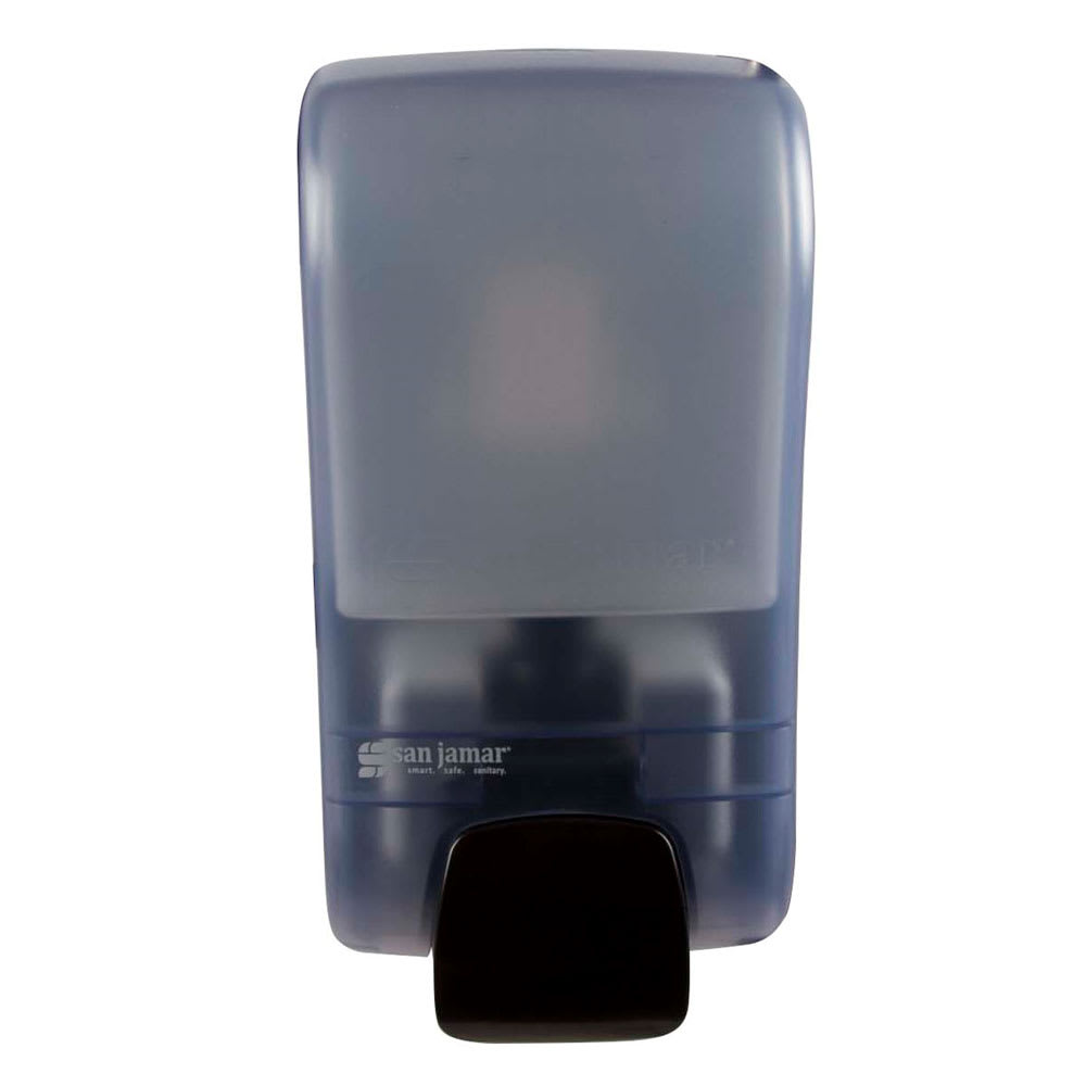 San Jamar SF1300TBL 1300-mL Wall-Mount Foam Soap Dispenser - Manual, Arctic Blue