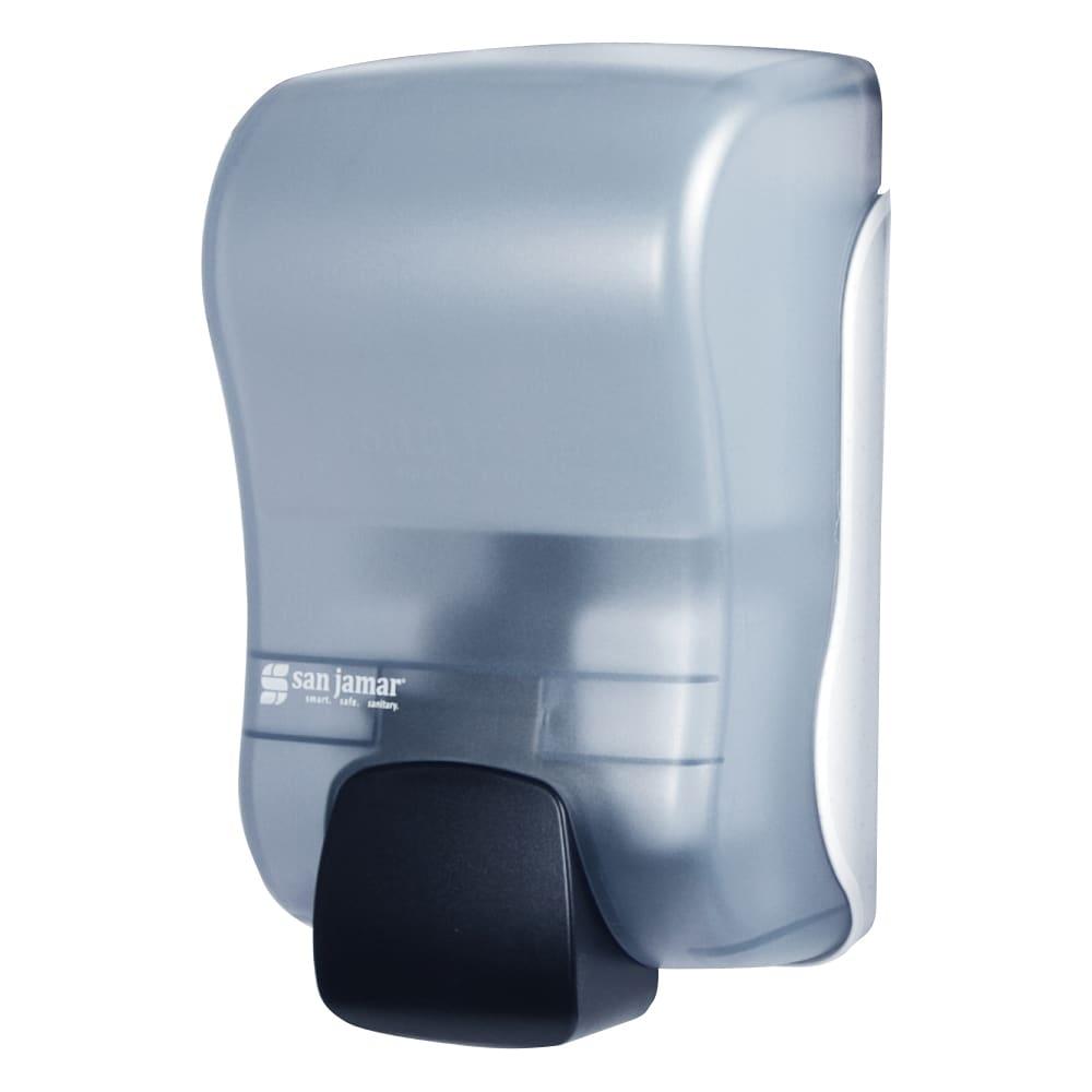 San Jamar SF900TBL 900-mL Wall-Mount Foam Soap Dispenser - Manual, Arctic Blue
