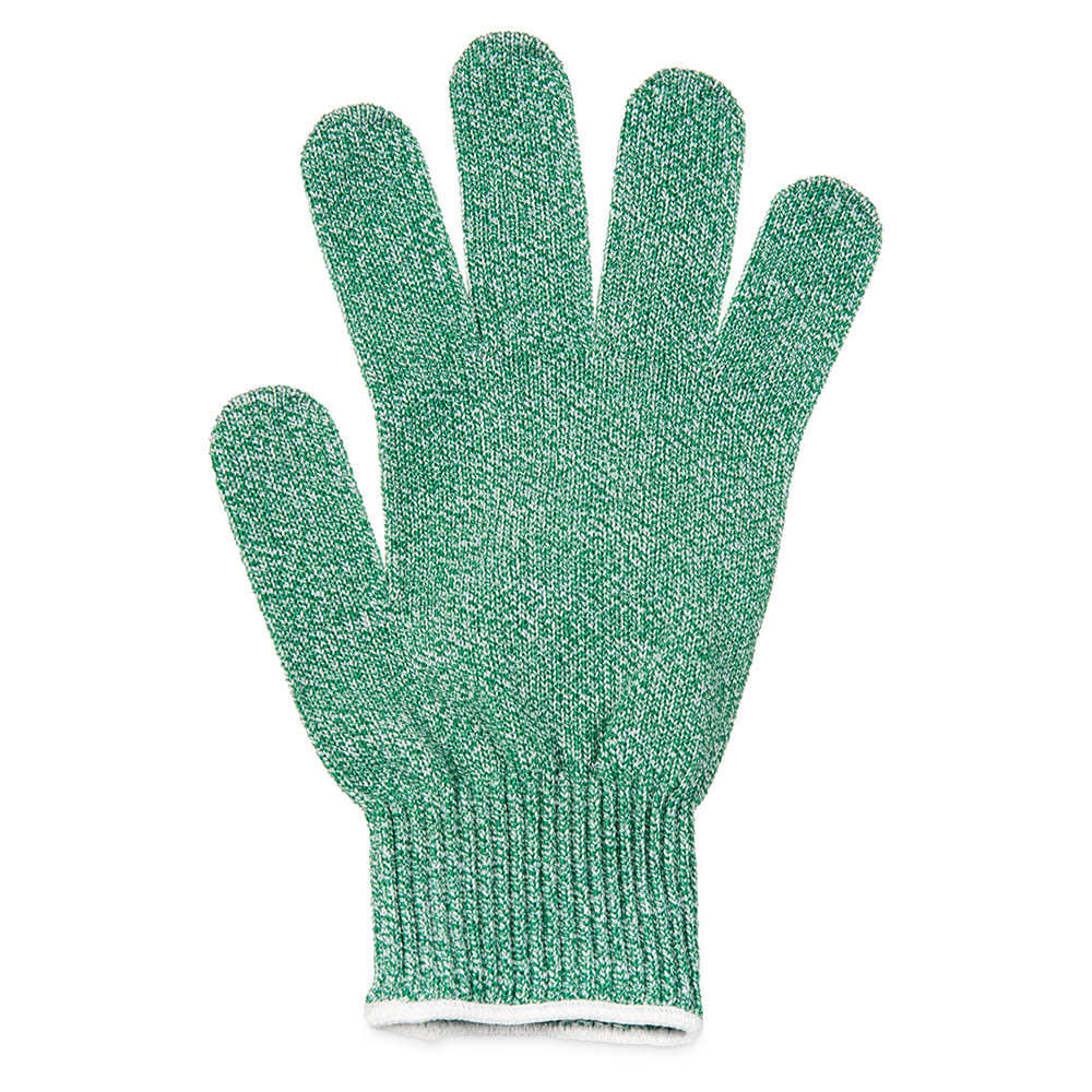 San Jamar SG10-GN-M Cut Resistant Produce Glove, Ambidextrous, Medium, Green