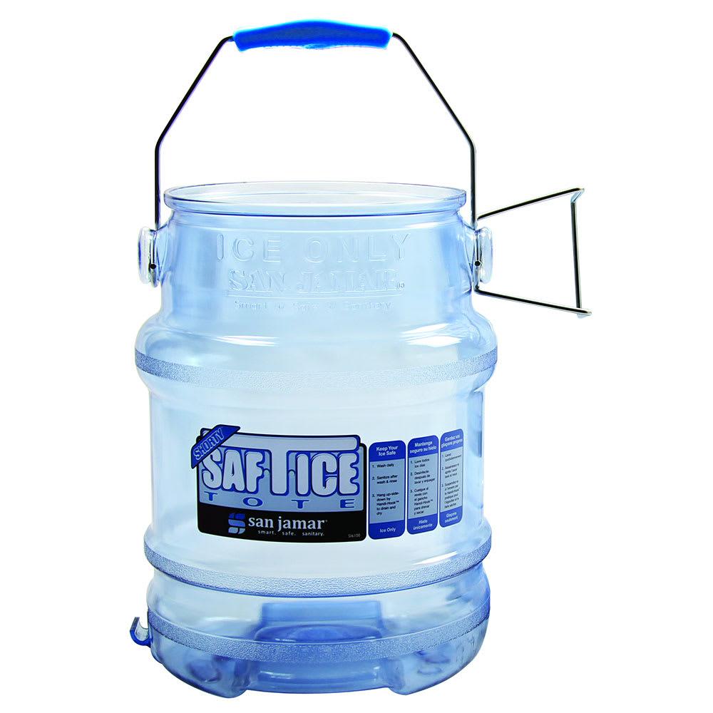San Jamar SI6000 Round Ice Tote w/ 6-gal Capacity, Clear Blue