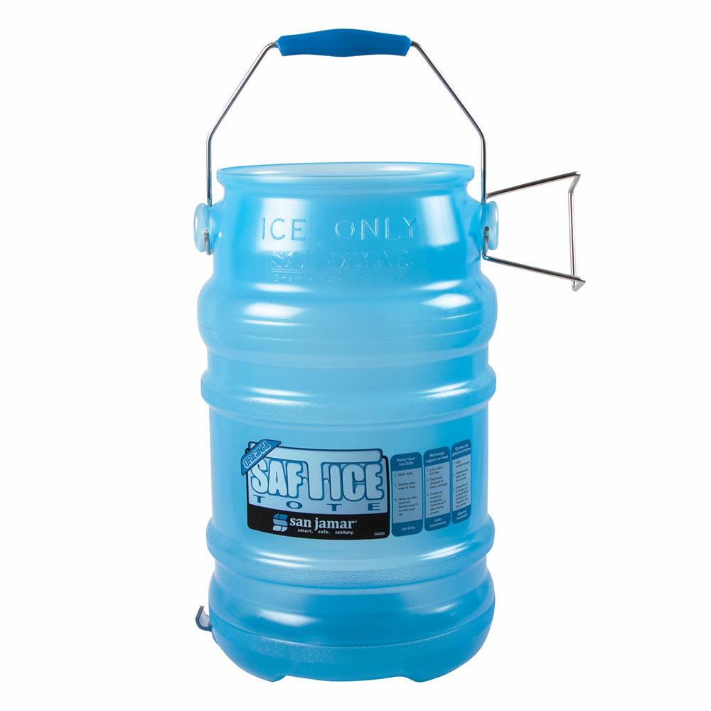 San Jamar SI6000BPAF Round Ice Tote w/ 6 gal Capacity, Blue