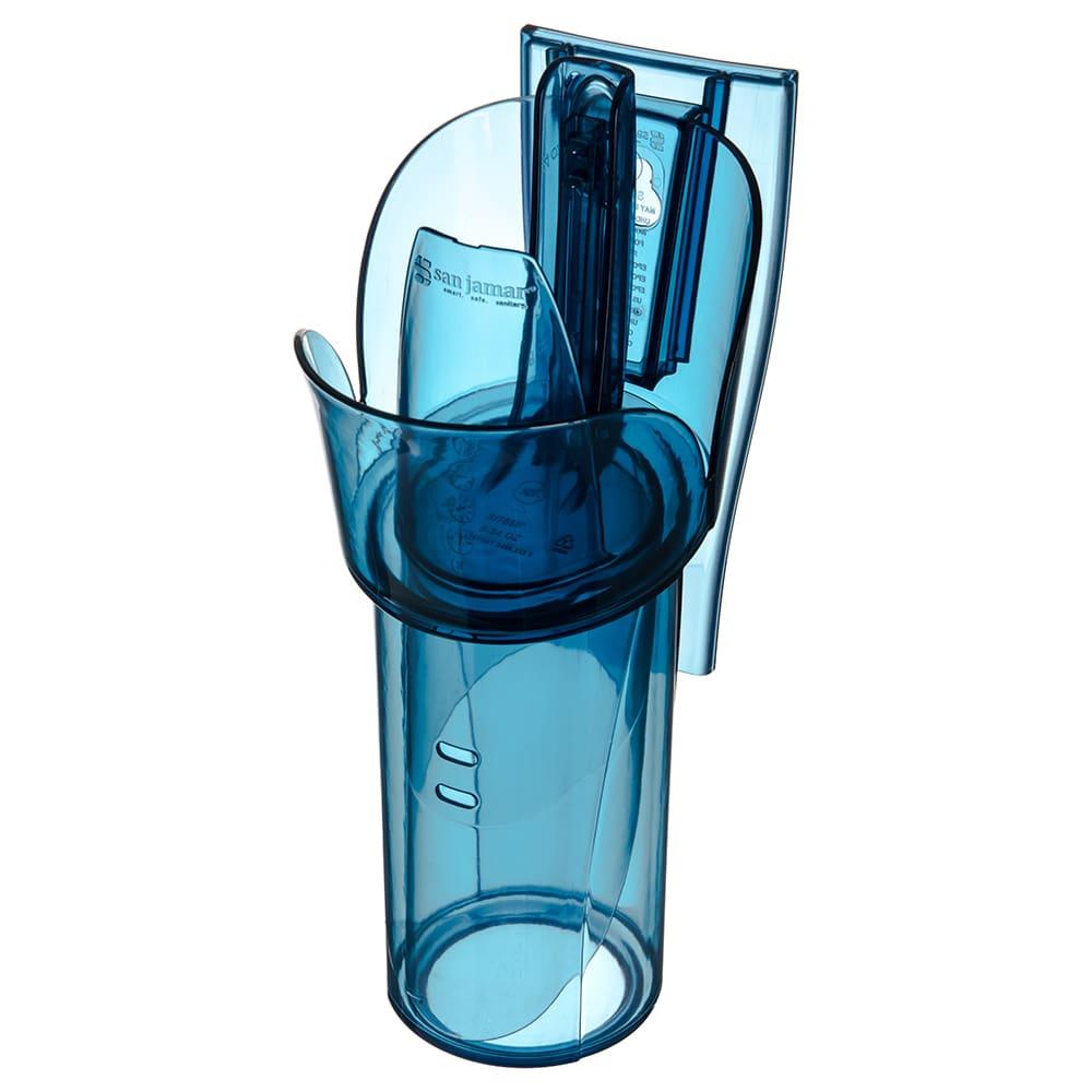 San Jamar SI7800 24-oz Round Adjustable Ice Scoop w/ Holder, Plastic