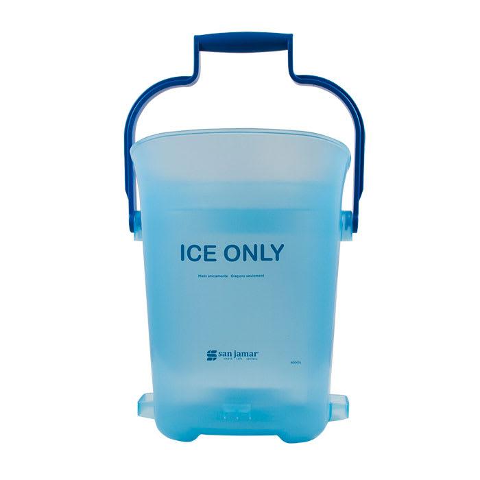 San Jamar SILD6000 Square Ice Tote w/ 6-gal Capacity, Blue