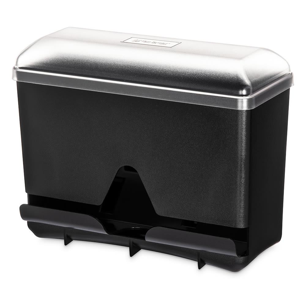 San Jamar ST250 Single-Sided Straw Dispenser - 250 Capacity, Black