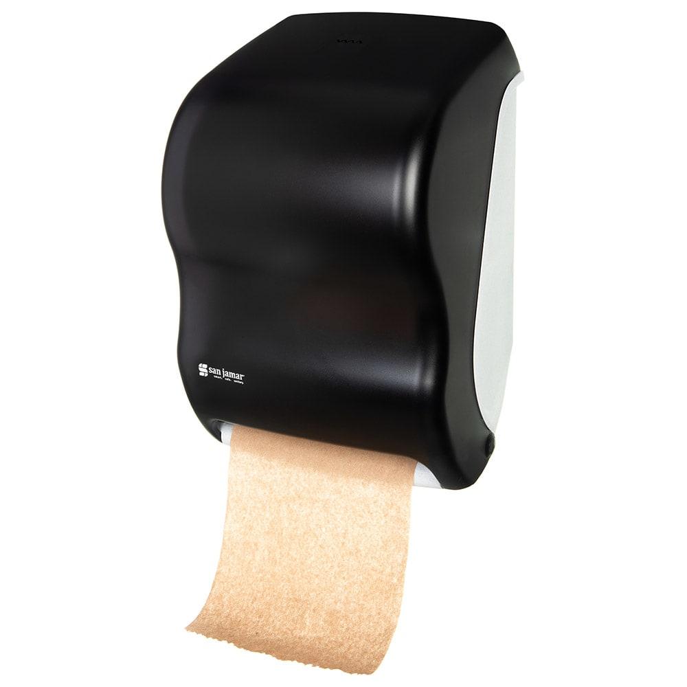 San Jamar T1300TBK Tear-N-Dry Classic Wall Towel Dispenser - Touchless, Black Pearl