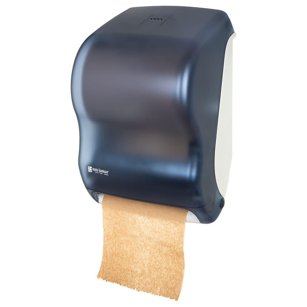 San Jamar T1300TBL Tear-N-Dry Classic Wall Towel Dispenser - Touchless, Arctic Blue