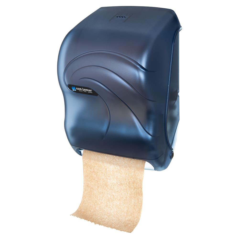 San Jamar T1390TBL Tear-N-Dry Oceans Wall Towel Dispenser - Touchless, Arctic Blue