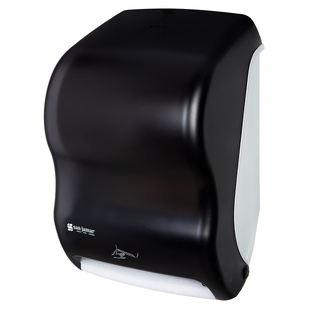 San Jamar T1400TBK Smart System Classic Wall Towel Dispenser - Touchless, Black Pearl