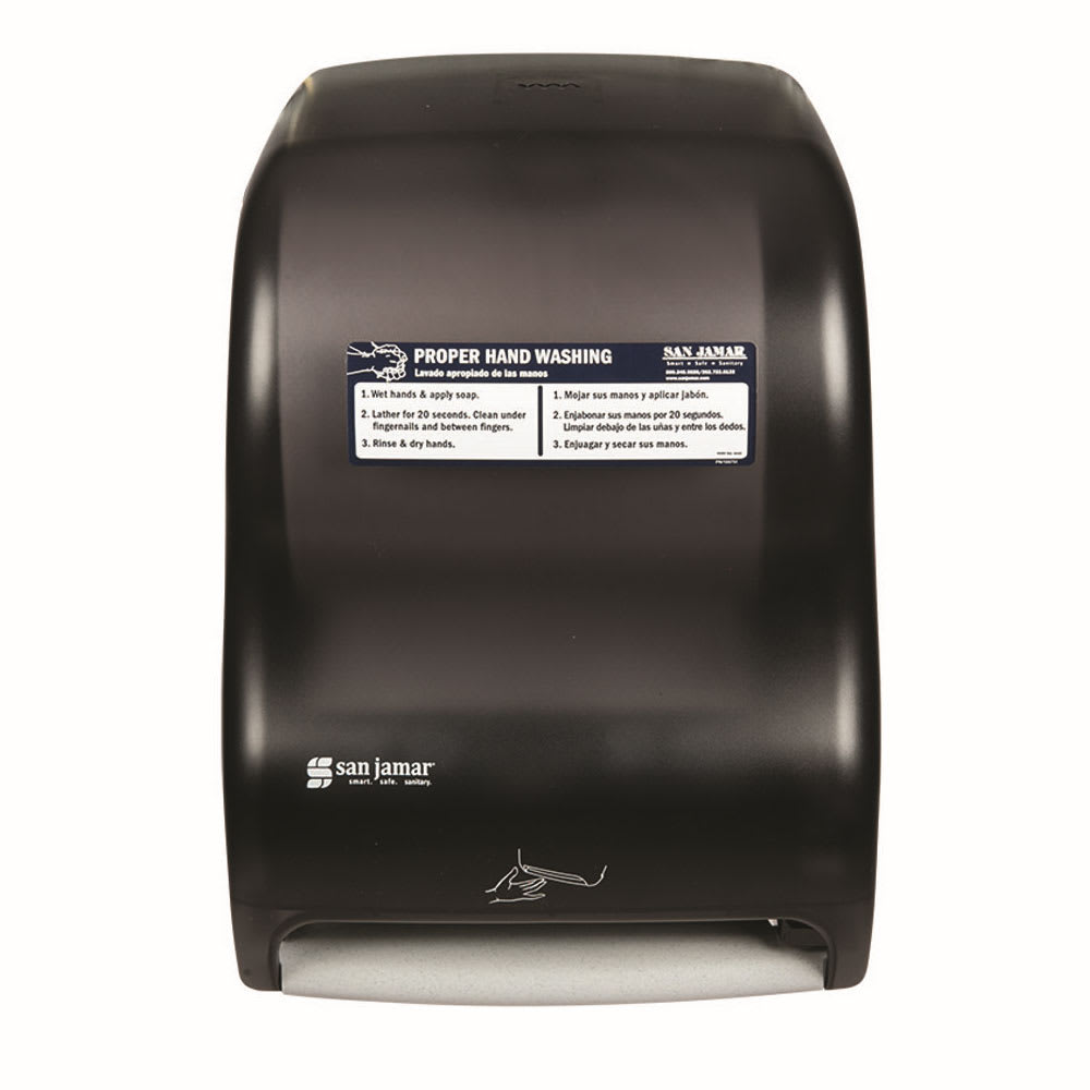 San Jamar T1400TBKHW Smart System Classic Wall Towel Dispenser - Touchless, Black Pearl