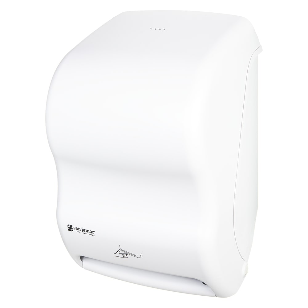 San Jamar T1400WH Smart System Classic Wall Towel Dispenser - Touchless, White