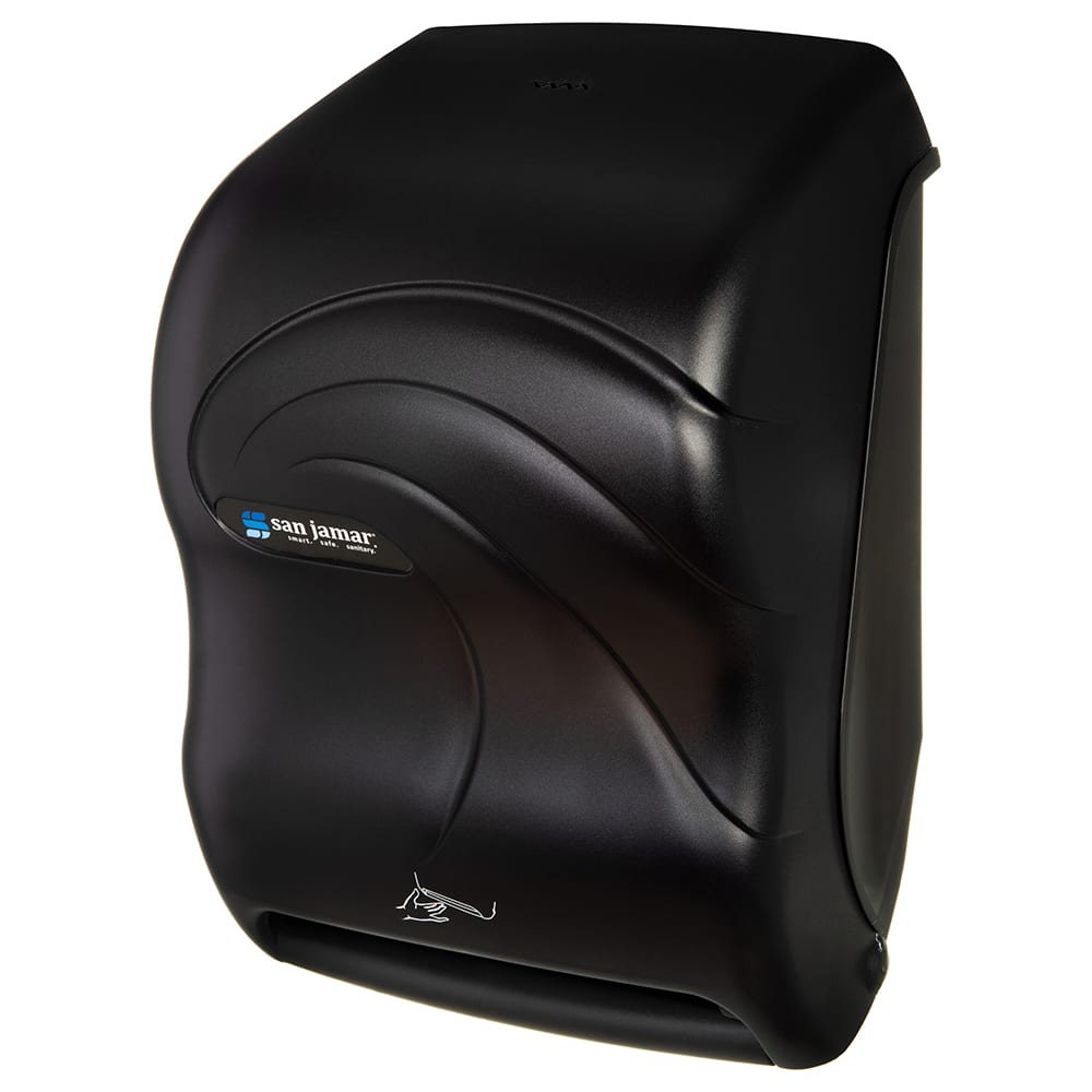 San Jamar T1490TBK Smart System Oceans Wall Towel Dispenser - Touchless, Black Pearl