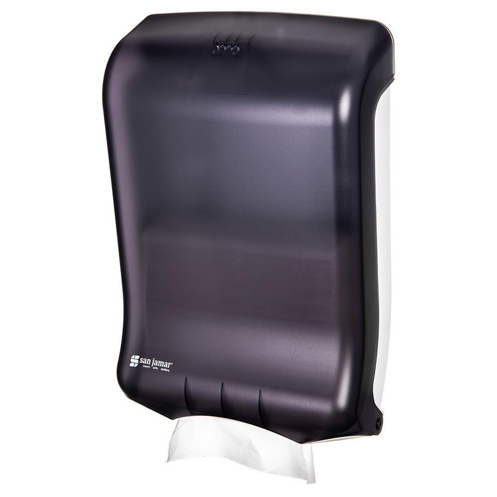 San Jamar T1700TBK Ultrafold Wall Towel Dispenser - C-Fold or Multifold, Black Pearl