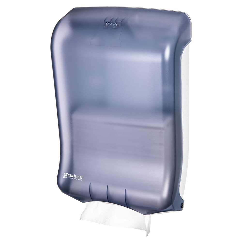 San Jamar T1700TBL Ultrafold Wall Towel Dispenser - C-Fold or Multifold, Arctic Blue