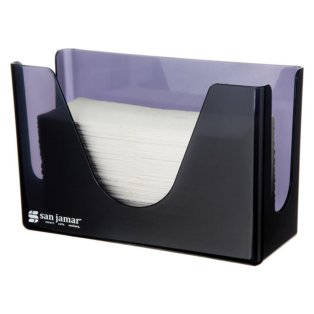 San Jamar T1720TBK Countertop Towel Dispenser - Compact, Black Pearl