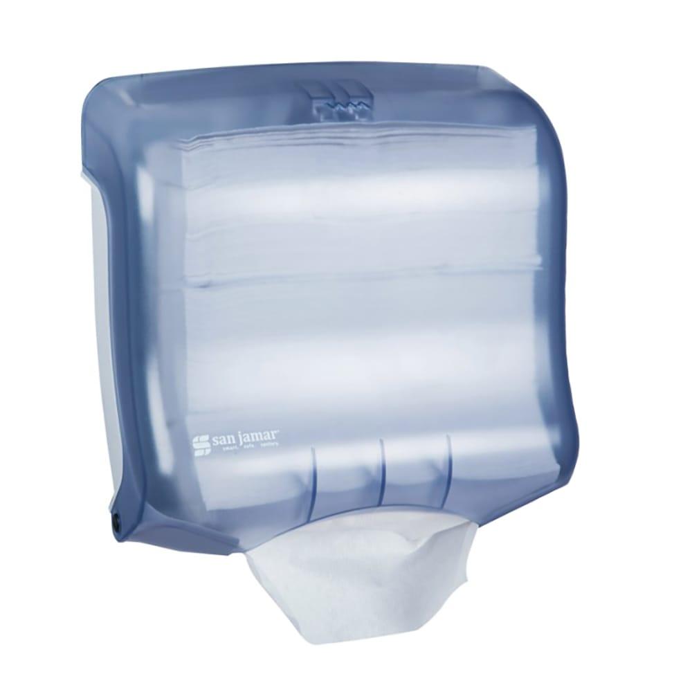 San Jamar T1750TBL Ultrafold Classic Wall Towel Dispenser - (240) C-Fold or (400) Multifold, Arctic Blue