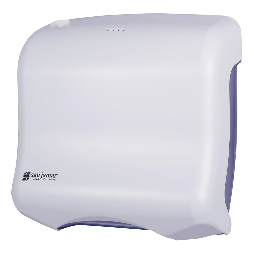 San Jamar T1750WH Ultrafold Classic Wall Towel Dispenser - (240) C-Fold or (400) Multifold, White
