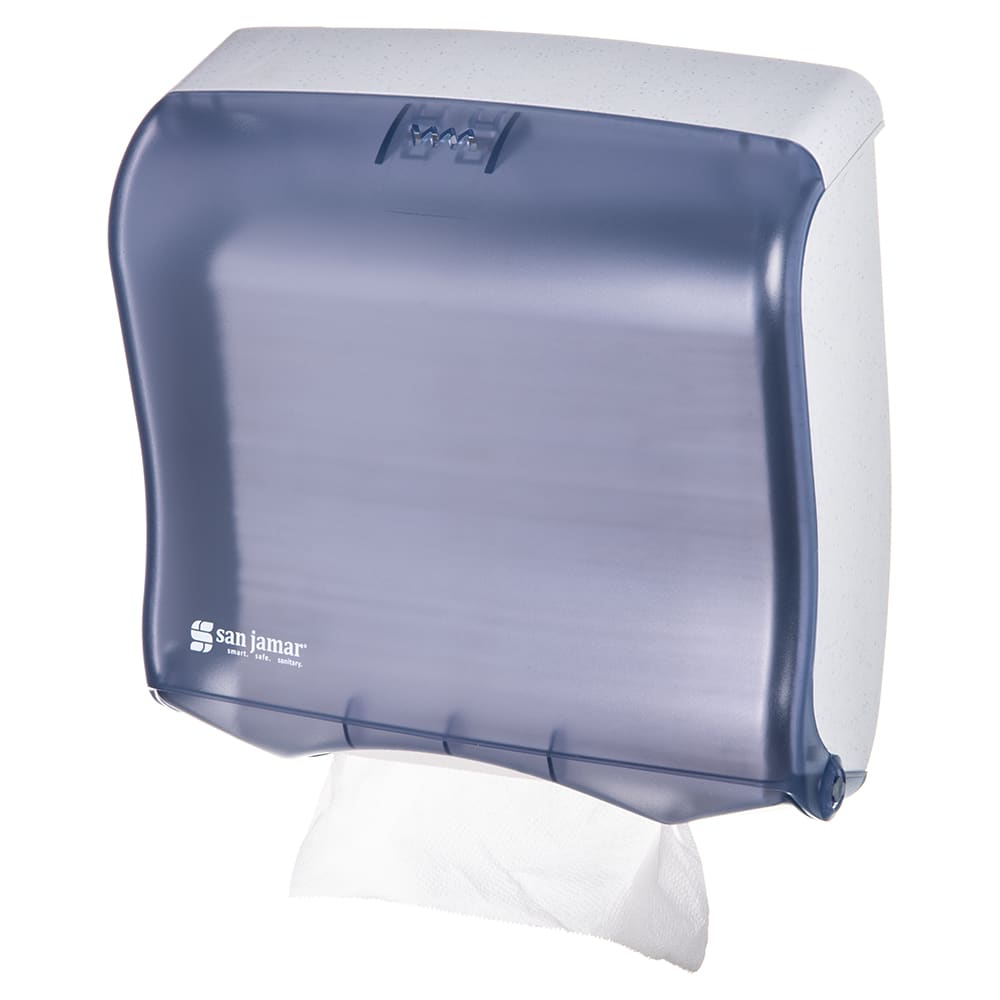 San Jamar T1755TBL Ultrafold Fusion Wall Towel Dispenser - (240) C-Fold or (400) Multifold, Arctic Blue