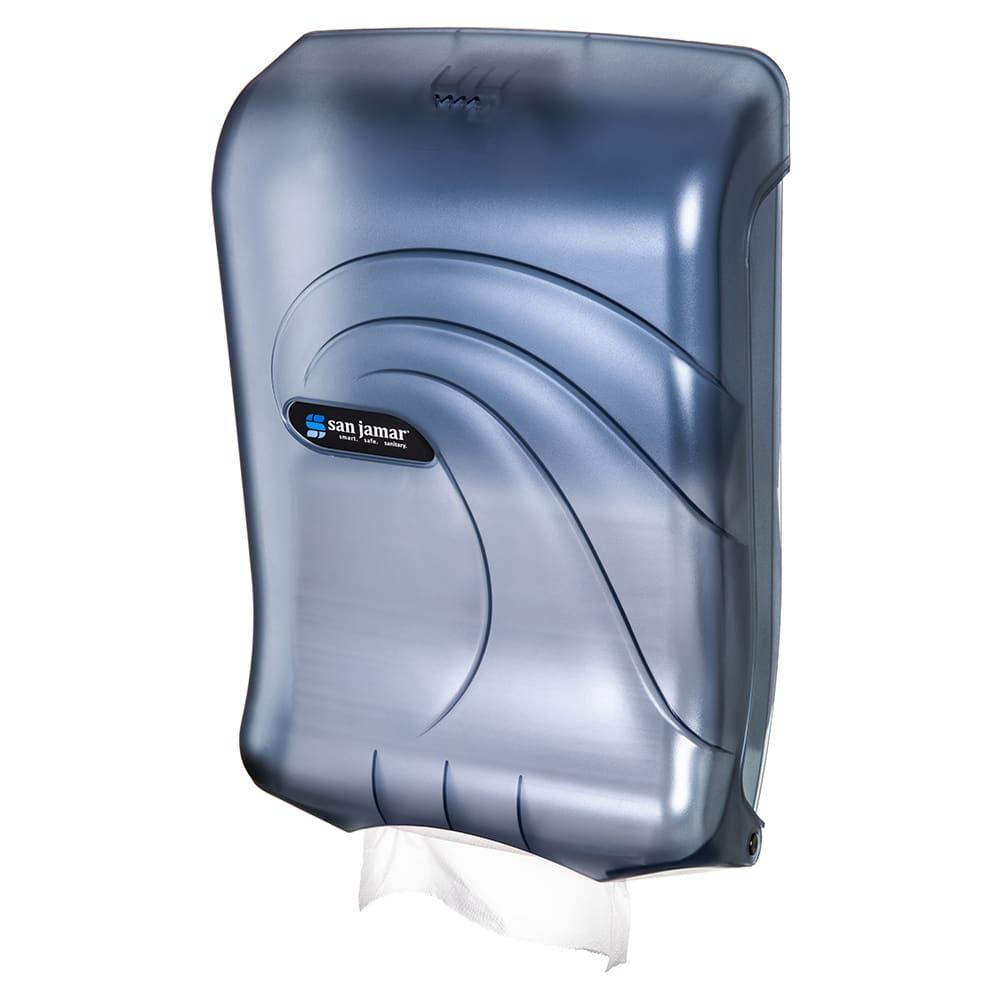 San Jamar T1790TBL Oceans Ultrafold Wall Paper Towel Dispenser - C-Fold or Multifold, Arctic Blue