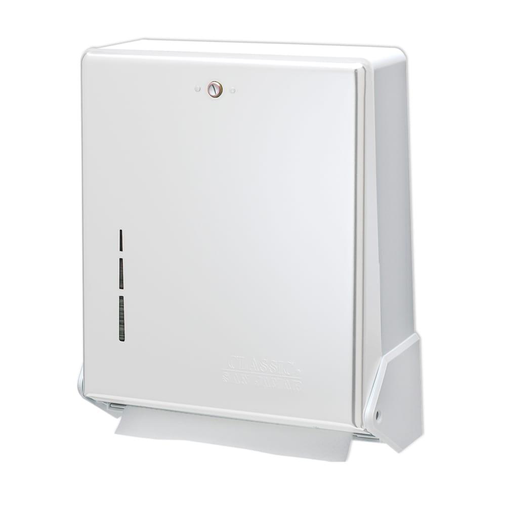 San Jamar T1905WH Classic Truefold Wall Towel Dispenser - C-Fold or Multifold, White