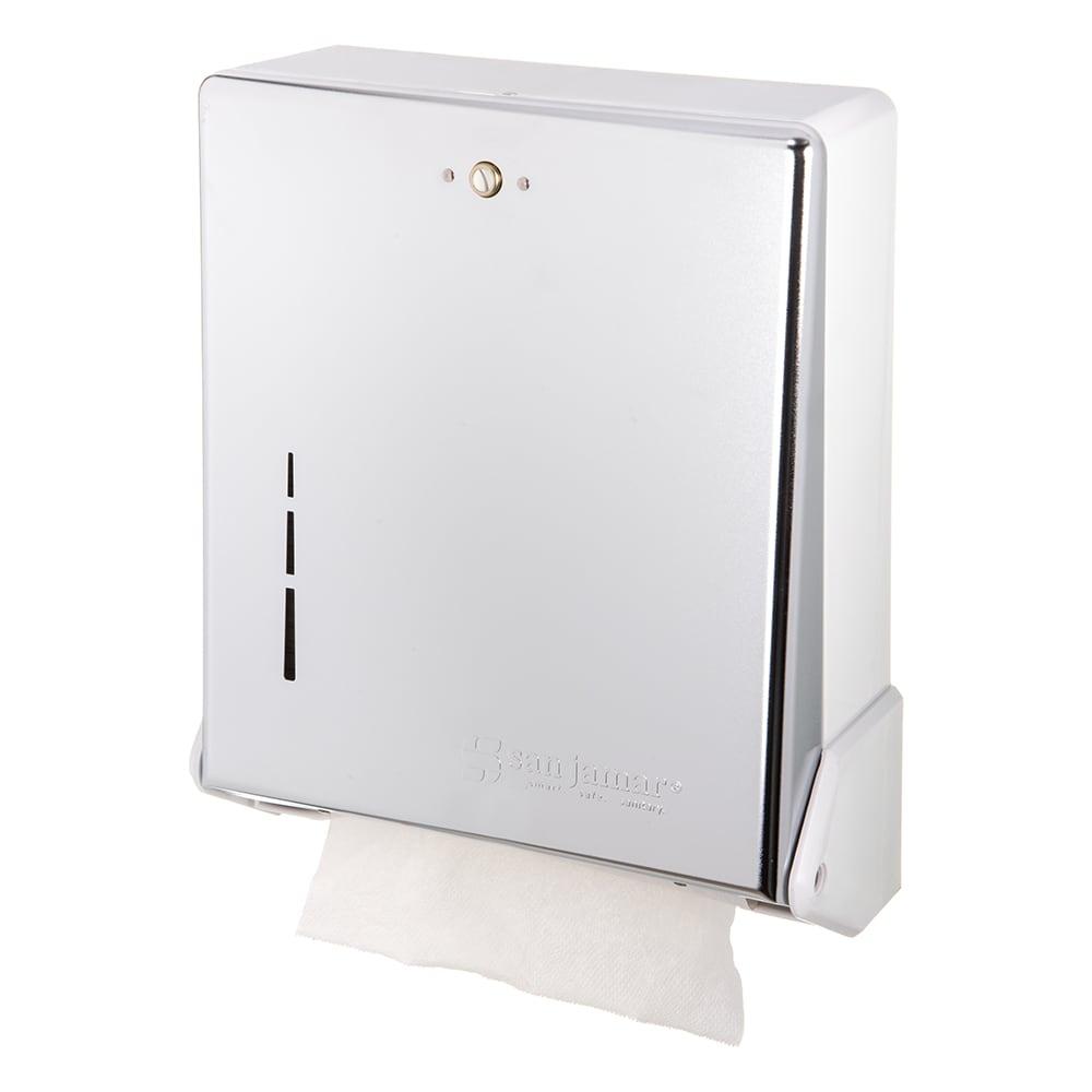 San Jamar T1905XC Classic Truefold Wall Towel Dispenser - C-Fold or Multifold, Bright Chrome