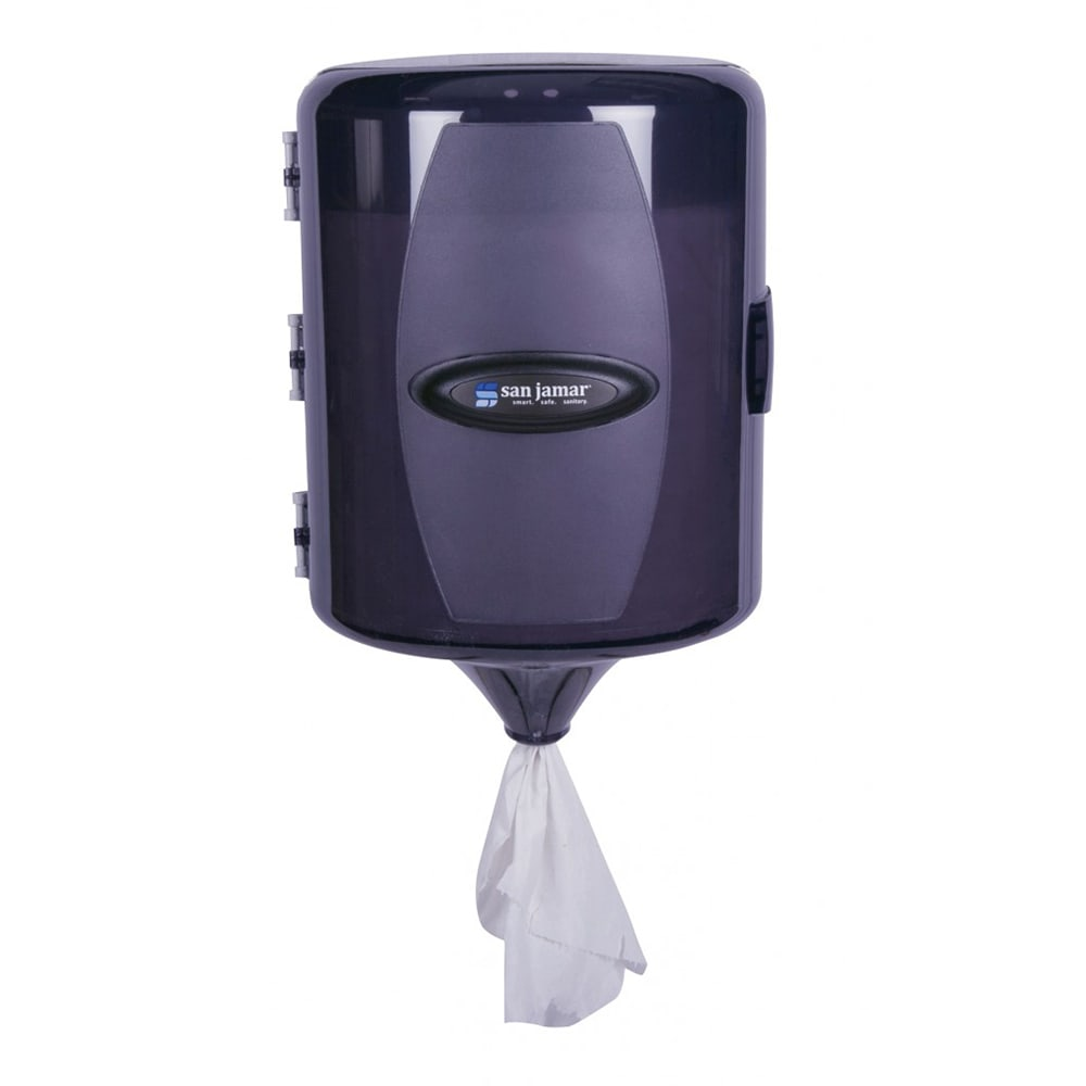 San Jamar T410TBK Wall Towel Dispenser - Adjustable Centerpull, Black Pearl