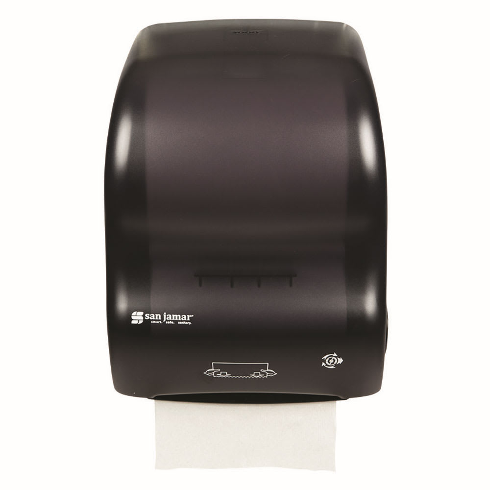 San Jamar T7000TBK Simplicity Hands Free Wall Towel Dispenser - Wide Roll, Black Pearl