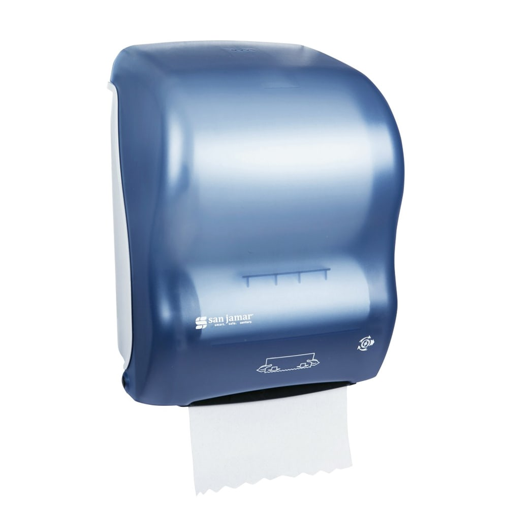 San Jamar T7000TBL Simplicity Hands Free Wall Towel Dispenser - Wide Roll, Arctic Blue