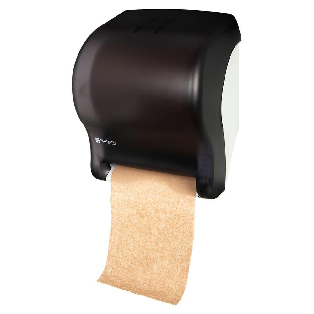 San Jamar T8000TBK Tear-N-Dry Essence Wall Towel Dispenser - Touchless, Wide Roll, Black Pearl