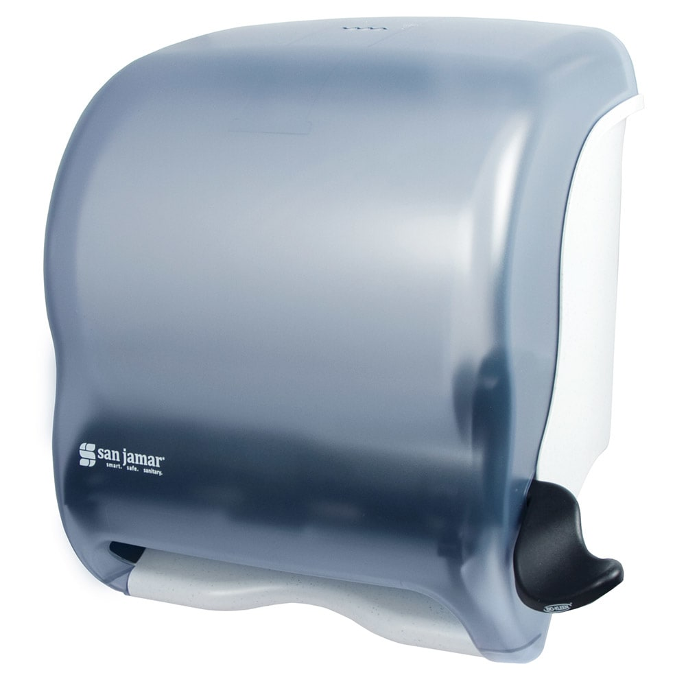 San Jamar T950TBL Classic Element Wall Towel Dispenser - Lever Action, Wide Roll, Arctic Blue